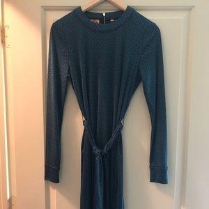 Tory Burch Long Sleeve Silk Dress, Smal